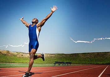 runner crossing finish line best practice