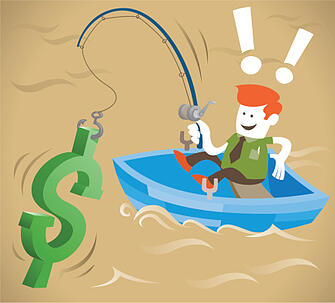 fishing to attract leads online