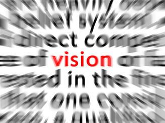 Vision sharp and blurry all around