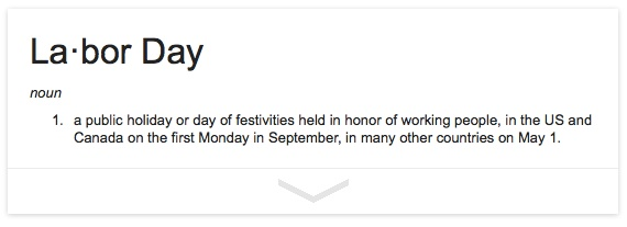 Definition of Labor Day
