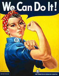 Labor Day Image of Rosie the Riveter