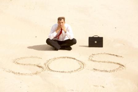Business man SOS