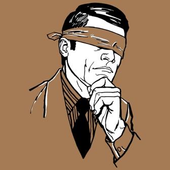 blindfolded guy
