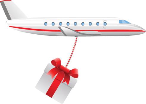 Plane Dropping Present