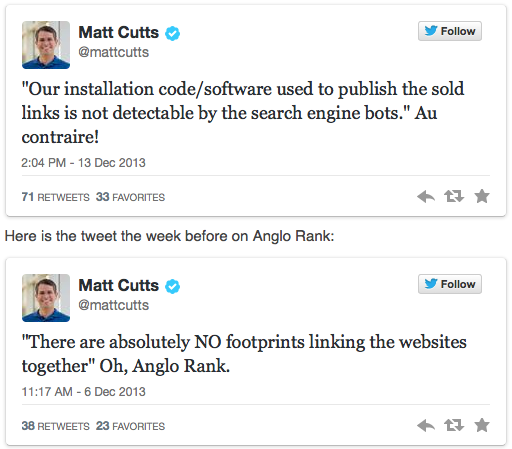 Google squashes backlinks