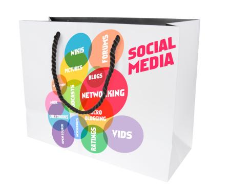 Shopping bag and social media