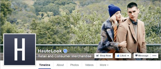 HauteLook Facebook Banner