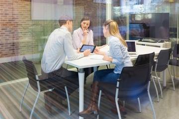 social media training in an office