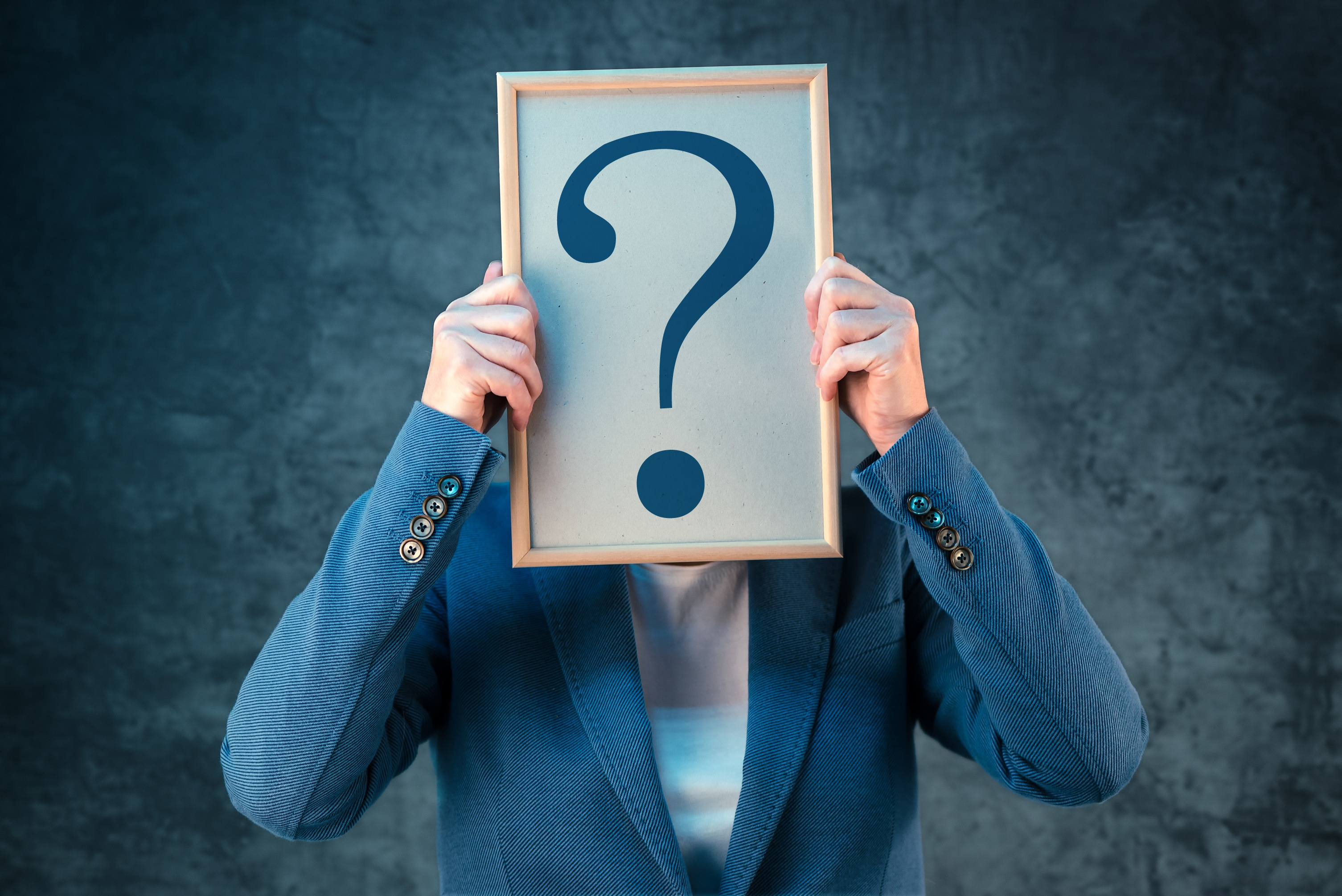 Person with an unknown personality type represented by a question mark